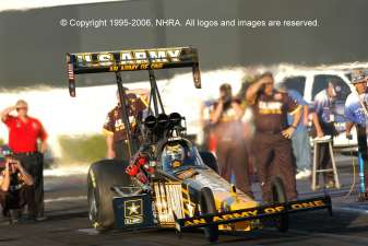 Tony Schmachers Top Fuel Dragster © Copyright 1995-2006, NHRA. All logos and images are reserved.