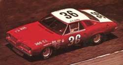 A Very Rare 1973 Grand Am stock car driven by Houston Texan H.B. Bailey.