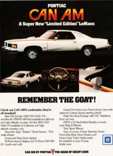 Remember The GOAT! Can Am ad