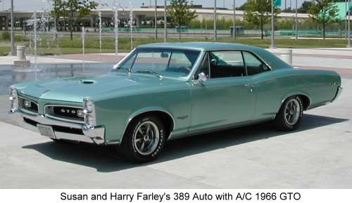Susan and Harry Farley's 389 Auto with A/C 1966 GTO