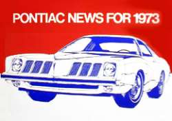 1973 Grand Am on the cover of Pontiac News for 1973