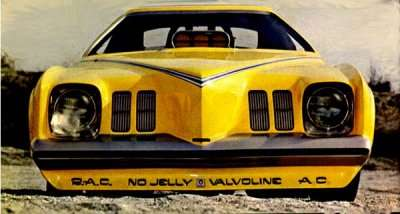 Mickey Thompson's 1973 Grand Am Revelleader Nose view