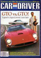 GTO vs. GTO: Car and Driver, April 1984