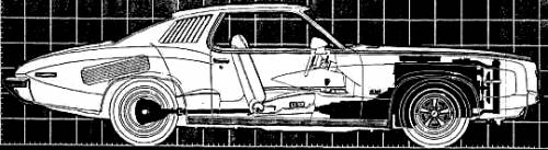1973 Pontiac Grand Am engineering X-Ray detail view