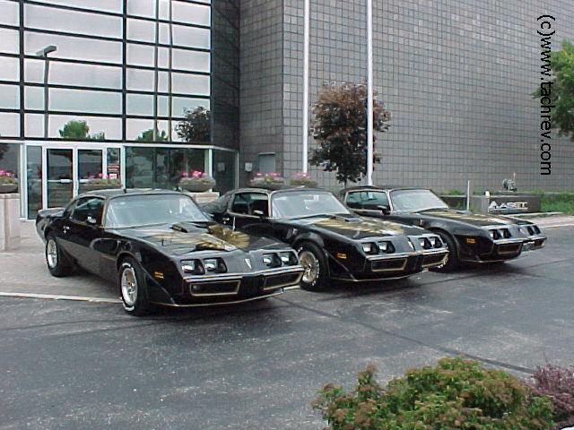 Three 1979 SE Black Special Edition 400 4speed Bandit  Trans Ams