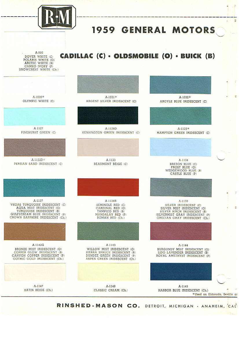 Pontiac paint charts main reference page by tachrev 1959a pontiac paint color codes nvjuhfo Gallery