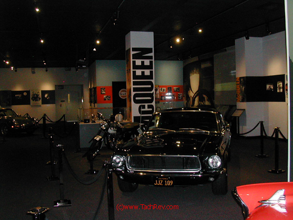 Steve McQueen Mustang, bikes and cars.