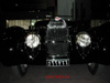 Going-100mph-standing-still Front view of the supercharged 1939 Bugatti.