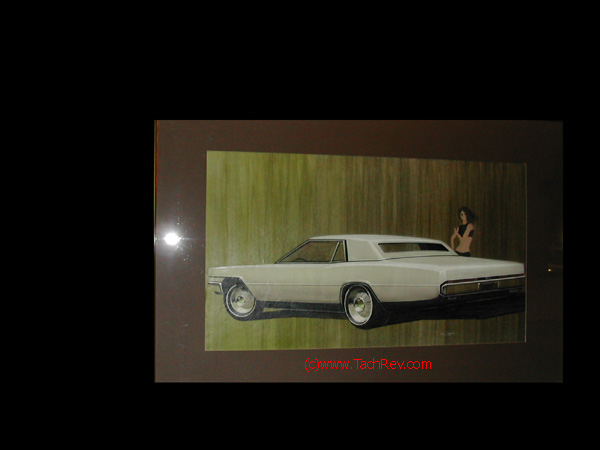 Concept proposal rendering for a late 1960's Lincoln.