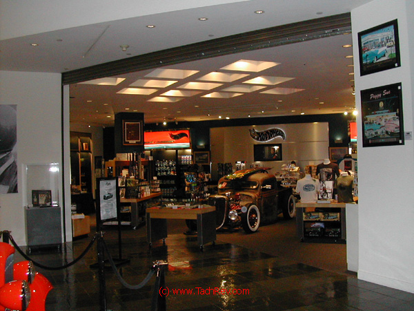 Rat Rod is center display for the Museum Gift Shop