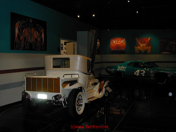 An infamous Custom Hot Rod pickup recreation and a Petty Race Car are included in the Bruce Meyer collection.