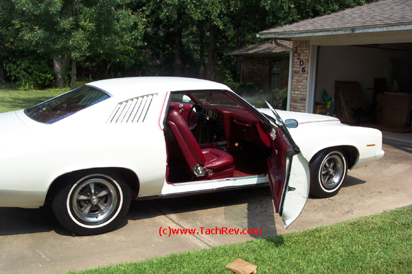 "Side view image sent to us prior to our trip to buy ""Miss Lilly"" our 1973 Pontiac Grand Am."