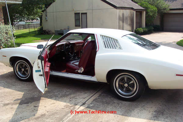 "Interior view image sent to us prior to our trip to buy ""Miss Lilly"" our 1973 Pontiac Grand Am."